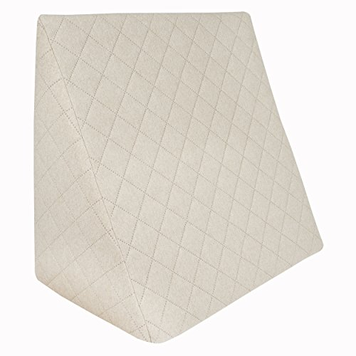 Sabeatex® Rückenkissen, Keilkissen für Couch und Sofa, Lesekissen für bequemes Sitzen. 5 Unifarben für trendiges Wohndesign. Louge-oder Palettenkissen Größe 60 cm x 50 cm x 30 cm (Beige/Natur)