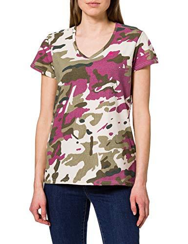 G-STAR RAW Allover Print V-Neck Camiseta, Whitebait C721-c374 Pop Multi Camo -...