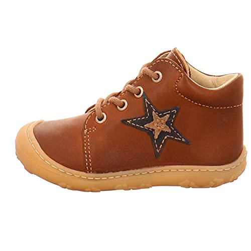 RICOSTA Unisex - Kinder Boots Romy von Pepino, Weite: Mittel (WMS),Kleinkinder,Kinderschuhe,schnürstiefel,Leder,Cognac (262),22 EU / 5 Child UK