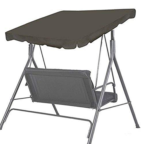 BenefitUSA Patio Outdoor 73'x52' Swing Canopy Replacement Porch Top Cover Seat Furniture (Taupe)