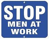 Aldon Blue'Stop Men at Work' Railroad Blue Sign Flag