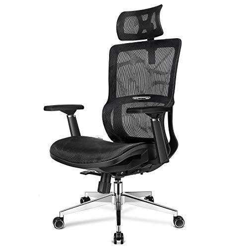 mfavour Office Chair Ergonomic Mesh Chair High Back Mesh Office Chair Computer Chair Desk Chair Mesh Back & Seat Tilt Function