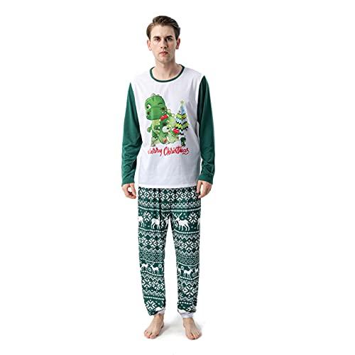 Hengyouhui Christmas Nachtwäsche Outfits Pyjama passendes Set Schlafanzug Langarm Oberteil Hose Hausanzug Pyjamas Set