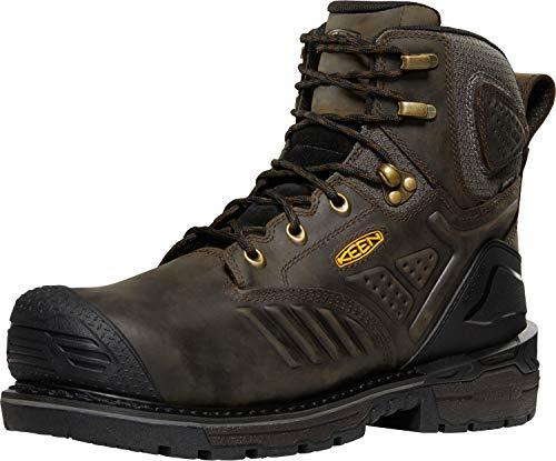 "KEEN Utility Men's Philadelphia 6"" Composite Toe Waterproof Work Boots Construction, Cascade Brown/Black, 8"
