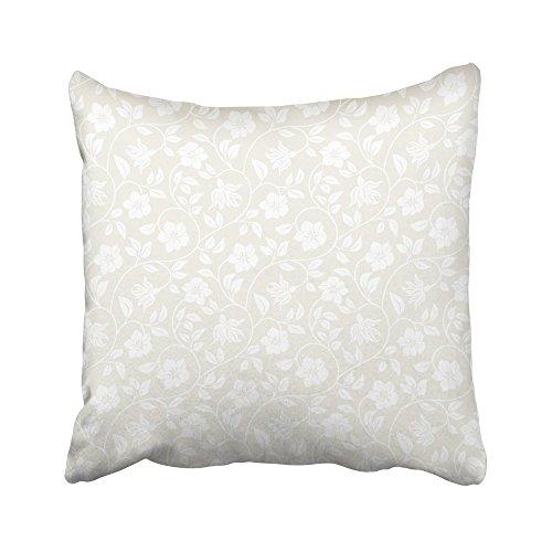 Moily Fayshow Funda de cojín con diseño Floral de Flores Beige para reproducción Continua Vea más en mi Cartera Marrón Blanco Claro 50X50 Cm