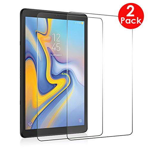 [2 PACK] Samsung Galaxy Tab S4 10.5 Screen Protector, Premium Tempered Glass Screen Protector for Samsung Galaxy Tab S4 10.5 (SM-T830 / SM-T835)