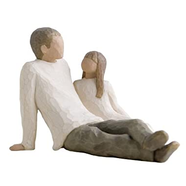 Willow Tree hand-painted sculpted figure, Father and Daughter (SC8450)