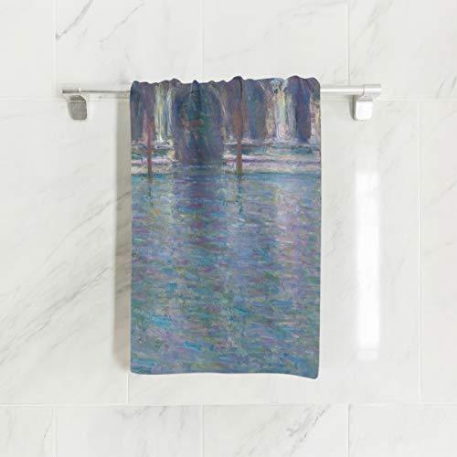 Ahomy Handtücher, 38 x 76 cm, Monet\'s Palazzo Contarini Mehrzweck-Handtücher, extra saugfähig für Bad, Hand, Gesicht, Fitnessstudio und Spa