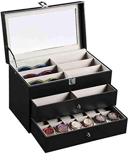 SHANCL Organizzatore Scatola di immagazzinaggio for Occhiali e Box Collector Holder Ideale for Occhio Indossa Gioielli Chiave-Catene Watches Protector Holder Box