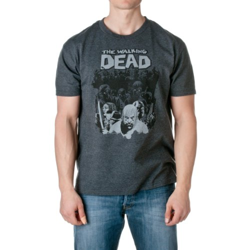 Walking Dead Comic Herd Charcoal Camiseta | L