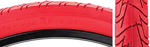 """SUNLITE City CST1218 Tires, 26"""" x 2.125"""", Red/Red"""