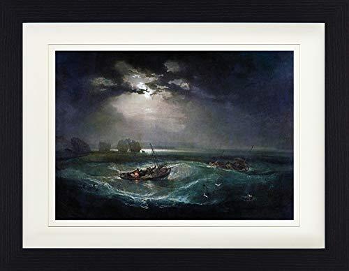 1art1 Joseph William Turner - Fischer Auf Dem Meer, 1796 Gerahmtes Bild Mit Edlem Passepartout | Wand-Bilder | Kunstdruck Poster Im Bilderrahmen 40 x 30 cm