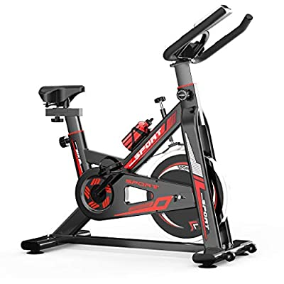 WJHWSX ?Ship from us? Indoor Cycling Stationary Bike Exercise Bike for Cardio Training Home Gym Workout Upright Belt Drive Bike with 22 Lbs Flywheel