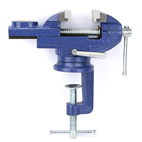 Mini DIY 360° Rotating Alloy Clamp Vise, Swivel Workshop Bench Vice Clamp, Equipment for Table Electric Drill Tool Material Clamping Fixing, Working Table DIY Jewelry Craft Mould Tools Repair Woodwork
