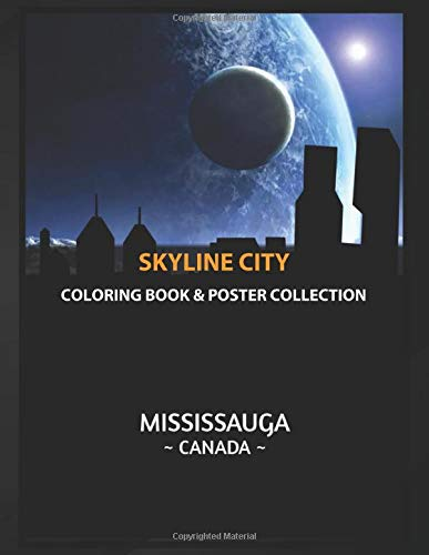 Coloring Book & Poster Collection: Skyline City Mississauga Canada Skyline Cartoons