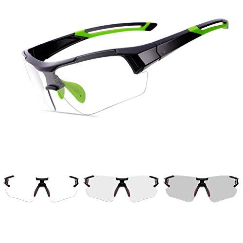 Urisgo Gafas de sol polarizadas de ciclismo con protección UV fotocromática MTB Airsoft Tactical gafas para conducir / trekking / bicicleta / pesca