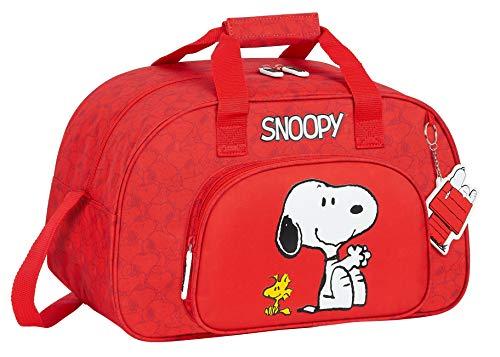 Safta Bolsa de Deporte de Snoopy, 400x230x240mm, rojo, M (M273)