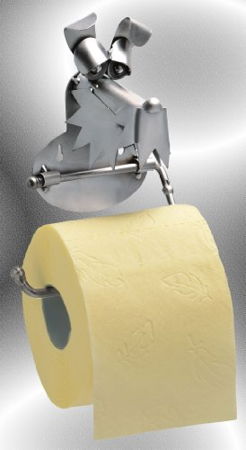 Boystoys HK Design - Toilettenpapierhalter Hund Metall Art Klopapierhalter - Original Schraubenmännchen Kollektion - handgefertigte Geschenkidee