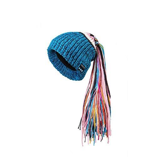 Fashion Dames Winter Bluetooth beanie muts met draadloze hoofdtelefoon, geïntegreerde microfoon random color