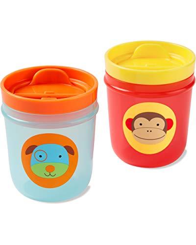 Skip Hop - Vasos con tapa de entrenamiento, 7 oz, mono y perro