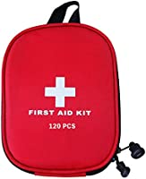 AUSELECT First Aid Kit 120pcs for Hiking, Backpacking, Camping, Travel, Car & Cycling with Waterproof Laminate Bags You...