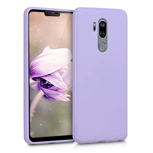 kwmobile TPU Case Compatible with LG G7 ThinQ/Fit/One - Case Soft Thin Slim Smooth Flexible Phone Cover - Lavender