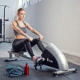 TecTake® Rudergerät Ruderzugmaschine Fitnessgerät mit Trainingscomputer - 6