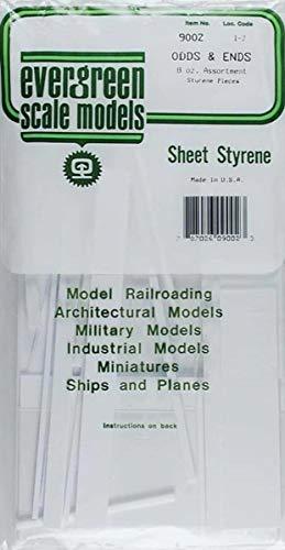 Evergreen Scale Models White Sheet Odds & Ends,standard