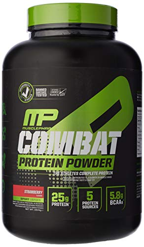 MusclePharm Muscle Pharm Combat Sport Protein Powder 1814g (Strawberry), 1 Units 0752830193918