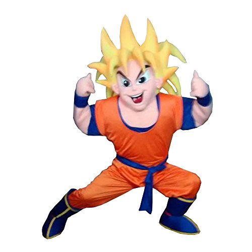 Goku Dragon Ball Z Mascot Costume Adult Party Character Halloween Cosplay Suit White