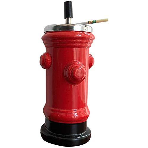 CXD Aschenbecher Feuer Hydrant Keramik Und Aschenbecher Mit Kreative Persönlichkeit Trend Mit Dem Wind Niedlichen Koreanischen Und Niedlichen Mädchen Mit Deckel Mode Einfach,1