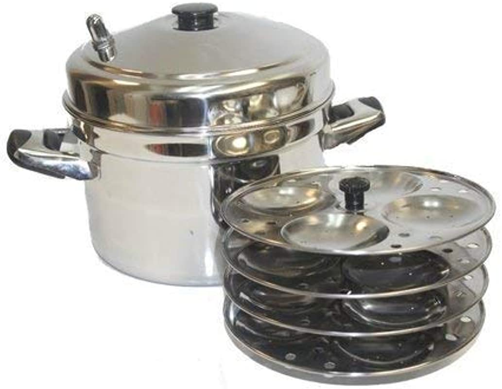TABAKH IC 205 5 Rack Stainless Steel Idli Cooker With Strong Handles Renewed