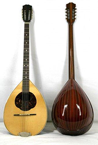 Musikalia luthery Griechische Bouzouki, in Padouk, Resonanzboden purfled und eingelegten, Concert Modell. Linkshänder Version–mit Hard Case in ABS, geformten