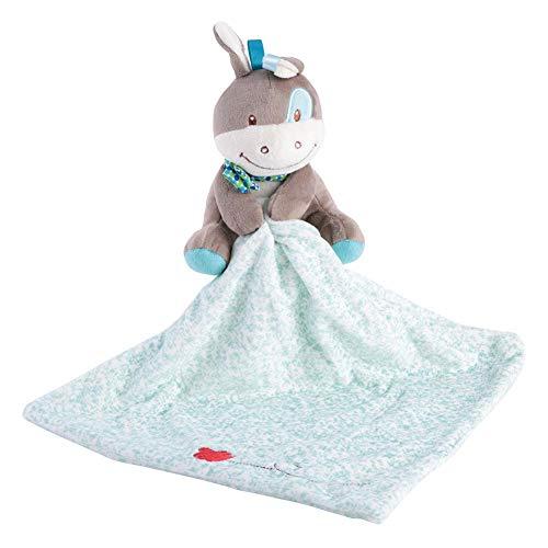 Comodidad del bebé toalla, una suave y segura toalla suave de dibujos animados de animales de peluche, abrazo de juguete antes de ir a la cama, regalo para niños(Deer)