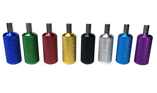 8 Packs - Poignées Tatouage Aluminium Anodisé& Tubes Qualité UK 22mm