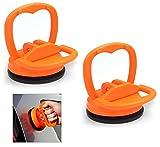 Voarge 2 Stück Dellen Saugnapf Abzieher Ausbau Werkzeug Mini Glassauger Saugheber Glasheber Klein Saugnapfhalter, Auto Body Dent Abzieher Ausbau Werkzeug 6 cm (Orange)