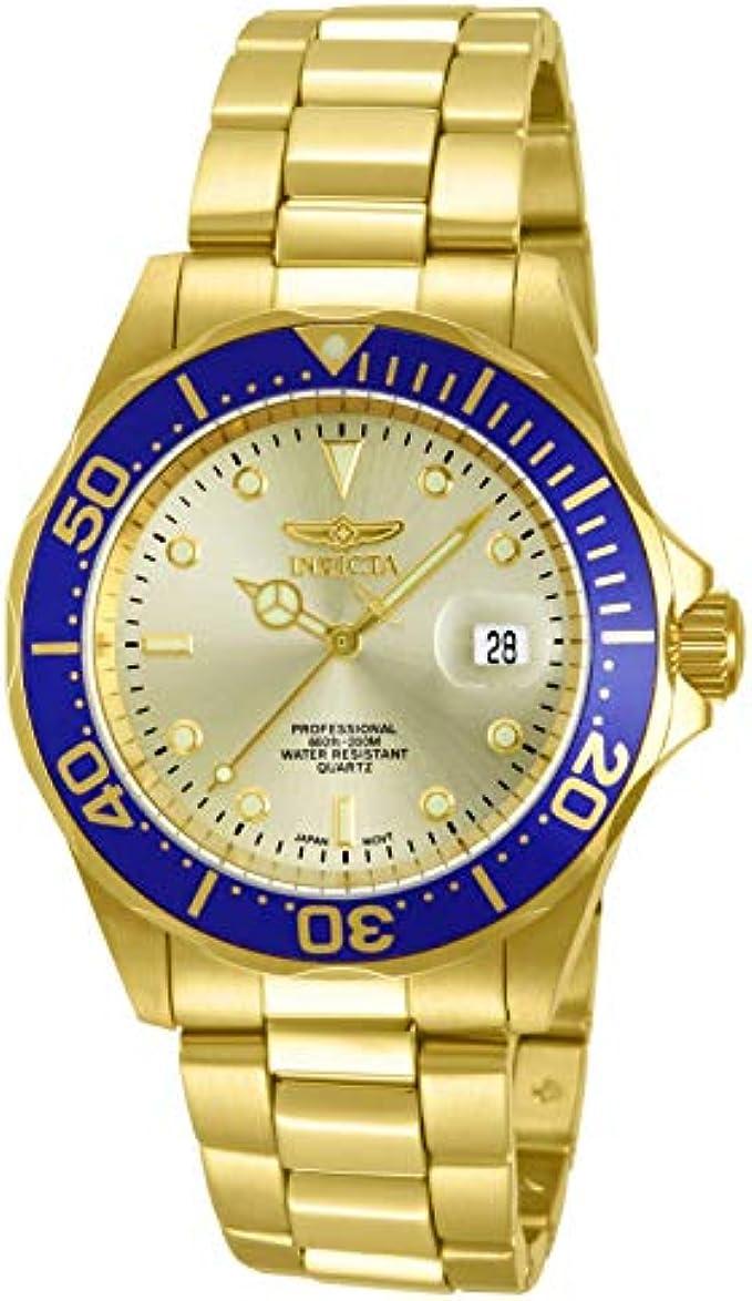 Invicta Men's 14124 Pro Diver Gold Dial
