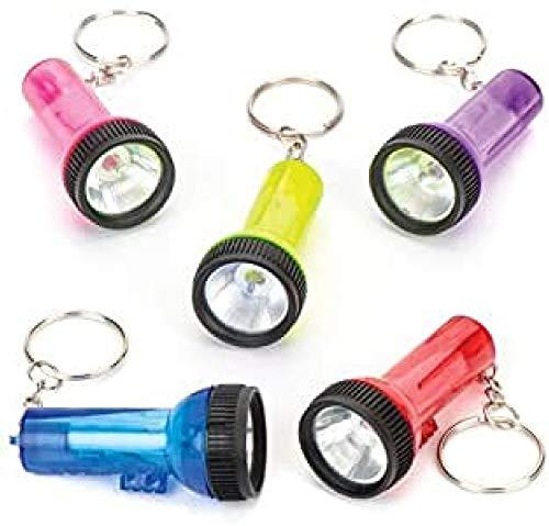 Baker Ross Schlüsselanhänger mit Mini-Taschenlampen als lustiges Spielzeug für Kinder zum günstigen Preis – perfekt als kleine Party-Überraschung für Kinder zu Halloween (6 Stück)
