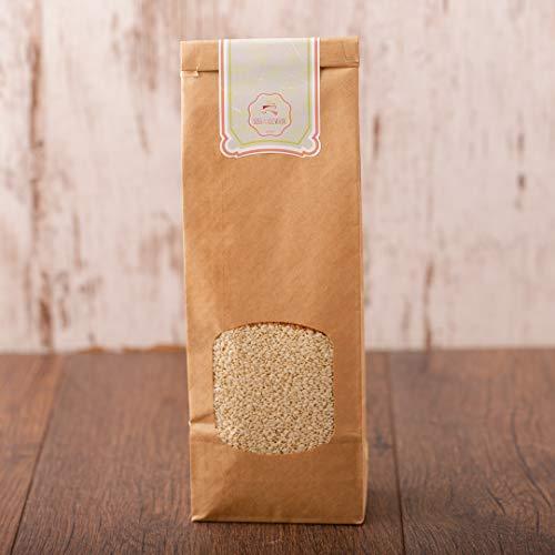 süssundclever.de® | Bio Sesam, geschält | weiß | 1 kg | plastikfrei und ökologisch-nachhaltig abgepackt
