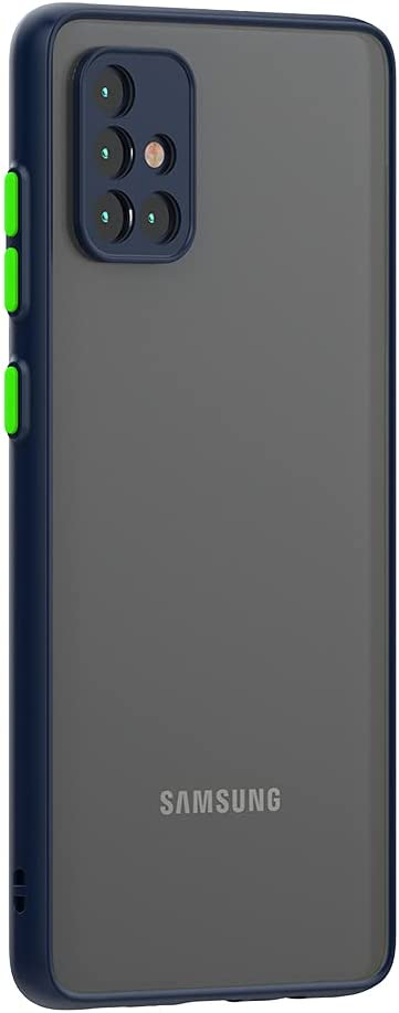 Case for Samsung Galaxy A51 Case 4G [Protect from Fingerprint/Shock/Scratch/Slip] Shockproof Hard PC Back with Soft TPU Bumper Slim Protective Phone Cover for Samsung Galaxy A51 4G (Blue)