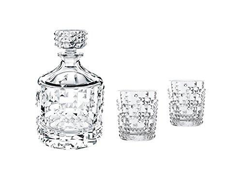 Spiegelau & Nachtmann, 3-teiliges Whisky-Set, Dekanter + 2 Becher, Kristallglas, Punk, 0099501-0