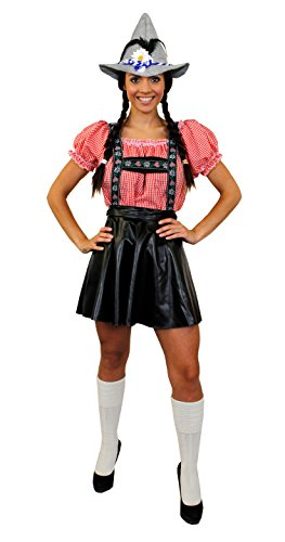 I LOVE FANCY DRESS LTD Oktoberfest BAYRISCHES Paare KOSTÜM VERKEIDUNG Variation MIT SEPPEL/Filz Hut ODER Hut+SOCKEN=DIRNDEL Lederhosen Look VERKLEIDUNG= Frauen+SOCKEN+Hut-Large