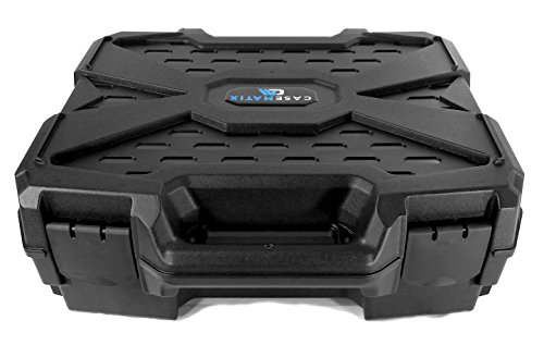 CASEMATIX Video Projector Hard Case with Customizable Foam Compatible with Epson VS240, EX3240, VS345, VS340, VS335W, EX7240 Pro, EX5240 Pro - Durable Hard Shell Travel Case with Padlock Rings
