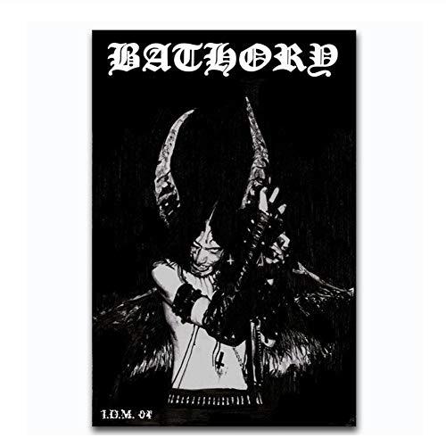 Impresión del Arte Nueva Bathory Quorthon Heavy Metal Music Band Poster Lienzo Pintura Decoración de la Lona de la Pared -60x80cm Sin Marco