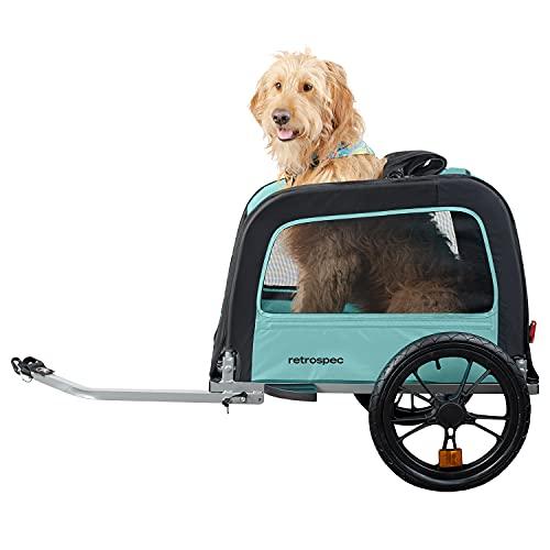 Retrospec Rover Hauler Pet Bike Trailer - Small & Medium Sized Dogs Bicycle Carrier - Foldable Frame...