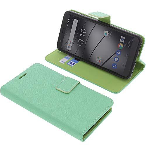foto-kontor Tasche für Gigaset GS280 Book Style hellgrün Schutz Hülle Buch
