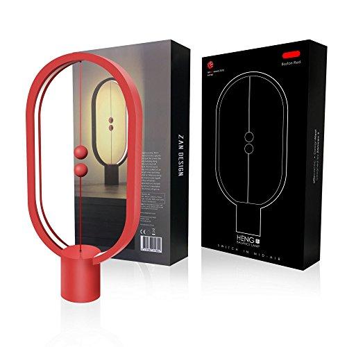 Heng Balance Lampara - Ellipse una galardonada lámpara de clase mundial, interruptor de aire medio magnético USB alimentado por la lámpara LED, diseño de Reddot ganador de la lámpara, color rosso