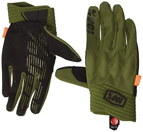 100 Percent Herren Cognito 100% Glove Army Green/Black Lg Handschuh für besondere Anlässe, Verde Y Negro, Mediano