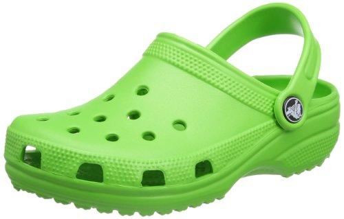 Crocs Classic Kids, Unisex - Kinder Clogs, Grün (Lime), 22/24 EU
