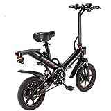 FingerAnge Bicicleta eléctrica plegable eléctrica de 14 pulgadas, 400 W, 48 V, 10 A, batería de litio City Bike Black10 A